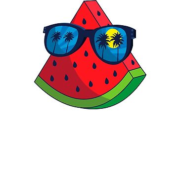 Watermelon Glass Summer Tshirt Beach Sun and Sand Tshirt by Syfcondesign