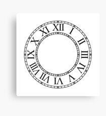 Roman Numeral Clock Canvas Print