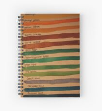 Colour Spiral Notebook