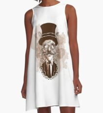 Steampunk Punk A-Line Dress