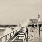 Rough sea on Madeira Drive, Brighton  by Heather Buckley