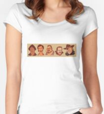 Coen Brothers Characters Women's Fitted Scoop T-Shirt