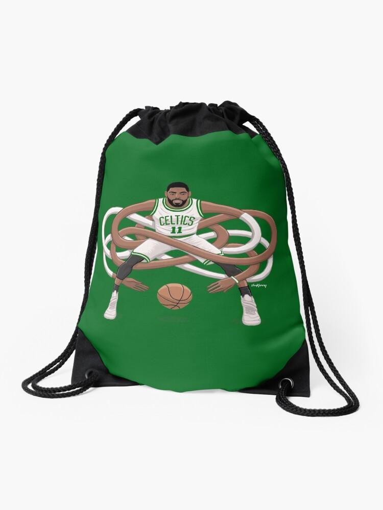 f16563c04f56 Boston Celtics Kyrie Irving #11 Official Drawstring Gym Backpack ...