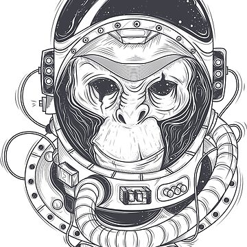 Space Monkey Face by Gamerama