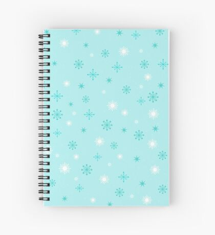 AFE Turquoise Snow Flakes Spiral Notebook