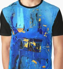 Blue, Black and White Graphic T-Shirt