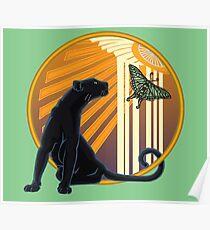 Art Deco Jaguar Plain Poster