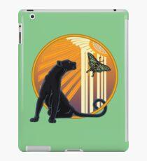 Art Deco Jaguar Plain iPad-Hülle & Klebefolie