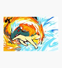 Quilava   Flame Wheel Photographic Print