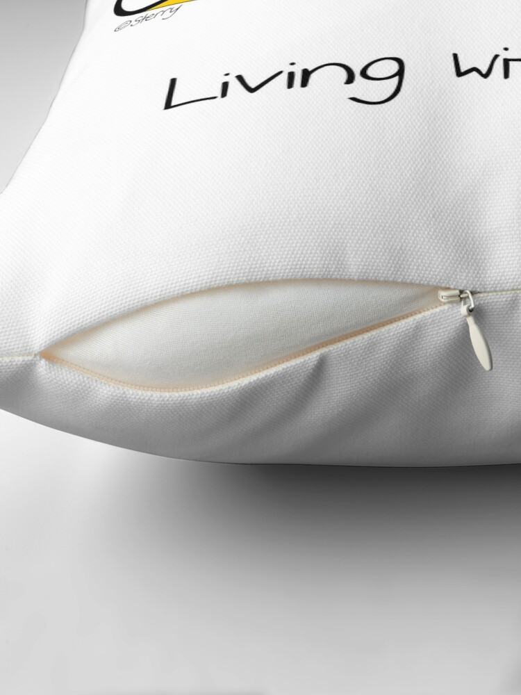 Alternate view of The Snail Clef Throw Pillow