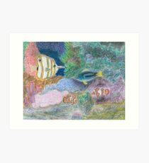 The Corel Reef - Oil Pastels Art Print