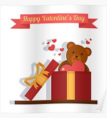 Happy Valentine's Day Greeting Cards Poster