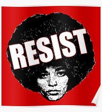 Angela Davis - Resist Poster