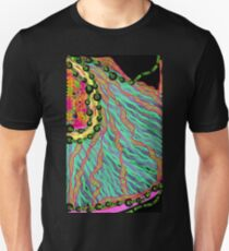 Fabrics of the Neon Tropical Fractal Jungle T-Shirt