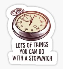 Stopwatch Sticker