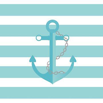 AFE Nautical Aqua Ship Anchor by afeimages1