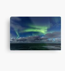 Aurora and the waves Metal Print