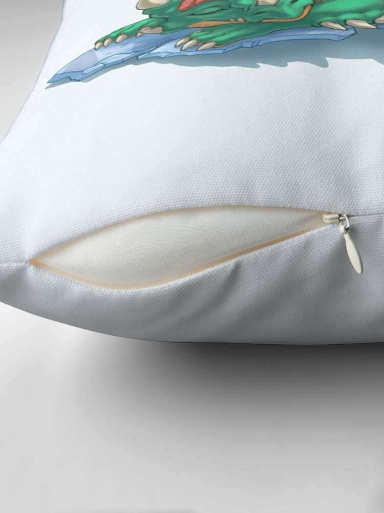 Alternate view of Dragon Hatchling Throw Pillow