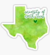 University of North Texas Sticker