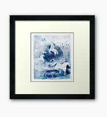 Chevaux magiques Framed Print