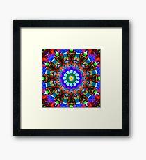 Random 12 Point Kaleidoscope Framed Print