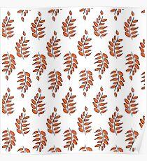 Leaves yellow orange pattern  Poster