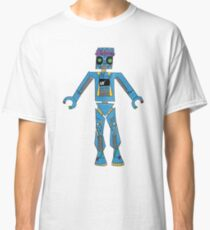 Robot with Flower Crown Classic T-Shirt