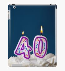 Cake: Birthday Cake With Candles For 40th Birthday iPad Case/Skin
