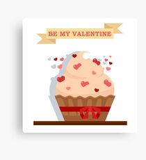 Happy Valentine's Day Greeting Cards Canvas Print