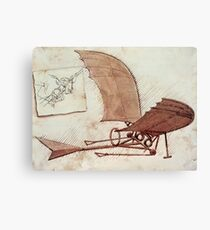 Da Vinci's flying machine Canvas Print