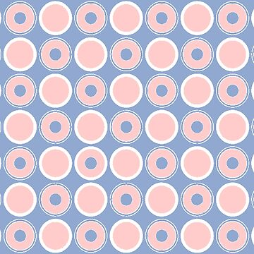 Pantone Colour of the Year 2016  Rose Quartz/ Serenity / Circles by ozcushions