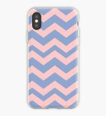 Pantone Colour of the Year 2016 Serenity/ Rose Quartz/ Chevron iPhone Case