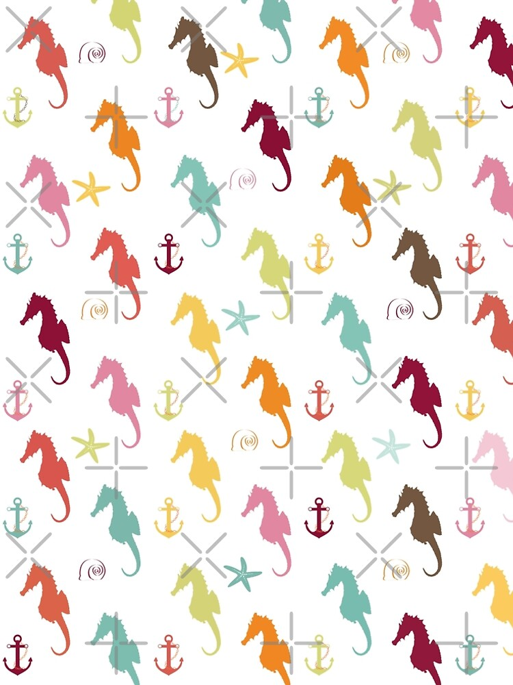 AFE Colorful Seahorse Pattern by afeimages1