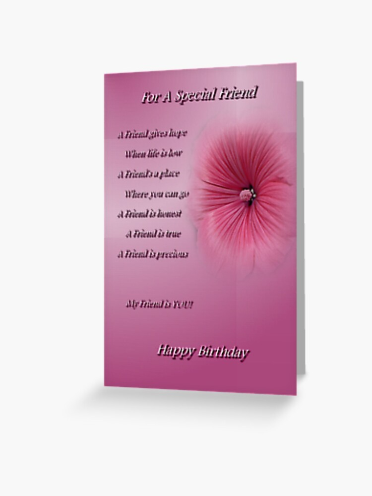 For A Special Friend Happy Birthday Greeting Card