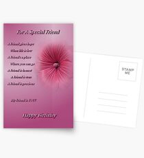 For A Special Friend (Happy Birthday) Postcards
