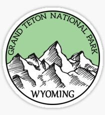 GRAND TETON NATIONAL PARK WYOMING TETONS Sticker