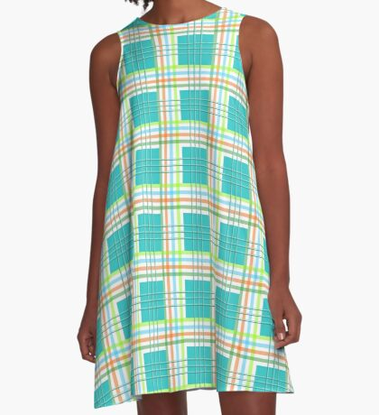 AFE Modern Plaid Pattern A-Line Dress