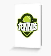 Sports Icon Tennis Greeting Card