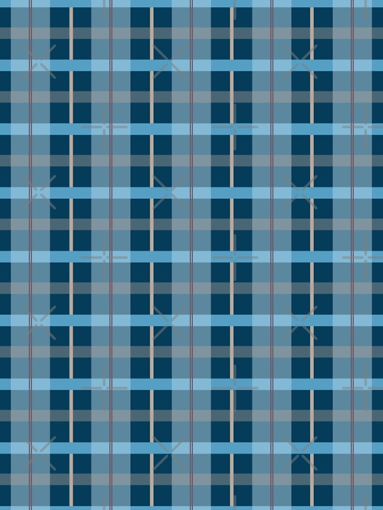 AFE Blue Plaid Pattern by afeimages1