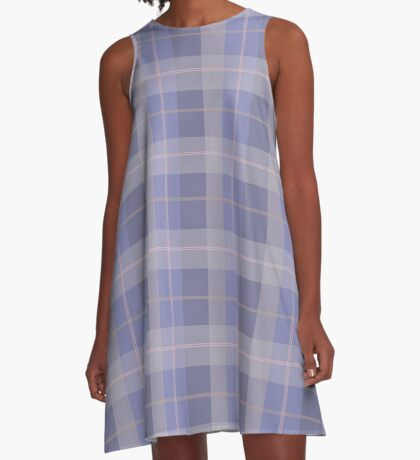 AFE Purple Plaid Pattern A-Line Dress