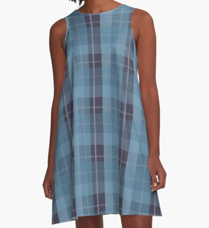 AFE Blue Plaid Pattern II A-Line Dress