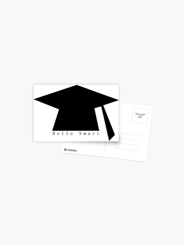 Graduation Convocation Theme With Word Hello Smart Postcard