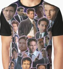 Fox Mulder Collage Graphic T-Shirt