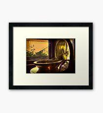 The washbasin . . . Framed Print
