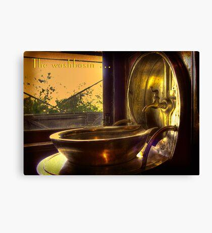 The washbasin . . . Canvas Print
