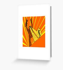 Attack of the giant robot Greeting Card