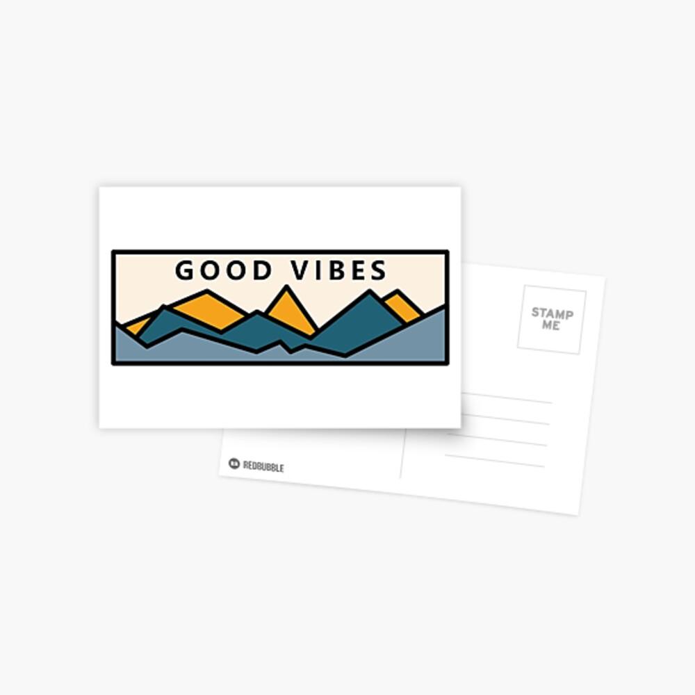 Buenas vibraciones en las montañas Postal