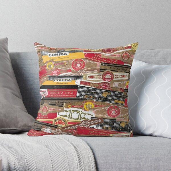Cigar Bands Throw Pillow