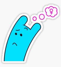 Blue Gender Questioner Sticker