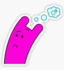 Pink Gender Questioner Sticker